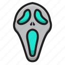 halloween, horror, mask, party, scary, scream icon