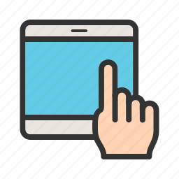 computer, device, hand, mobile, tablet, technology, touch icon