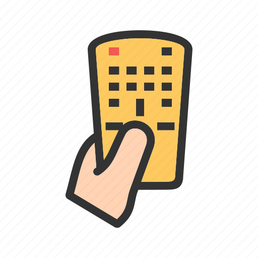 hand, remote, screen, technology, tv, video, watch icon