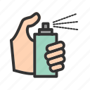 bottle, clean, cleaner, liquid, plastic, spray, transparent icon