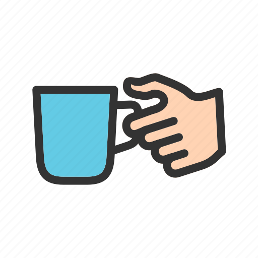 breakfast, coffee, cup, hand, holding, hot, mug icon