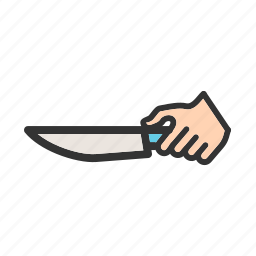 cut, cutlery, kitchen, knife, sharp, silverware, utensil icon