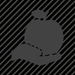apple, food, fresh, fruit, hand, sweet, tasty icon