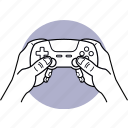 game, control, controller, gamepad, hand, holding, gaming icon