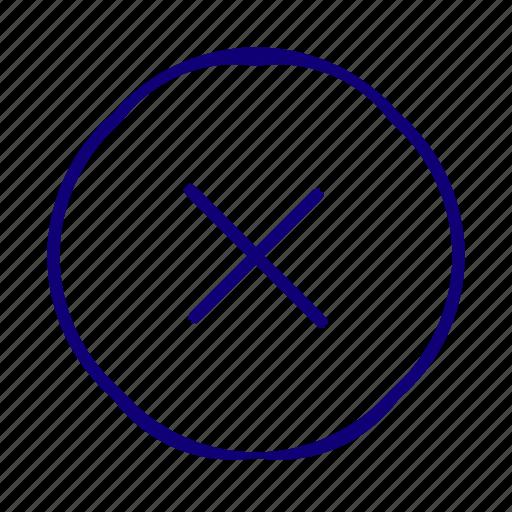 cancel, close, delete, discard, error, multiply, remove icon