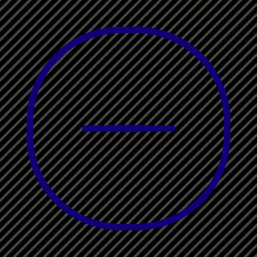 collapse, delete, minimize, minus, remove, subtract icon
