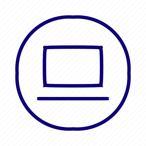 computer, electronic device, laptop, notebook, pc, portable computer icon