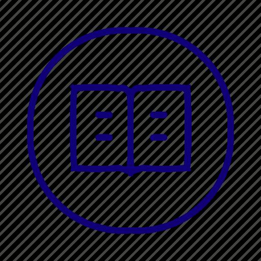 book, bookmark, copywrite, education, library, reading icon