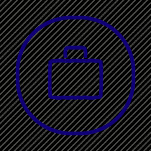 bag, breifcase, business, luggage, portfolio, suitcase, work icon