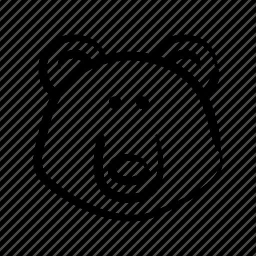 animal, bear, hand drawn, wild, zoo icon