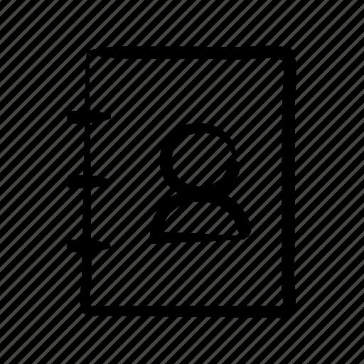 agenda, book, contact, hand drawn, list, phone icon