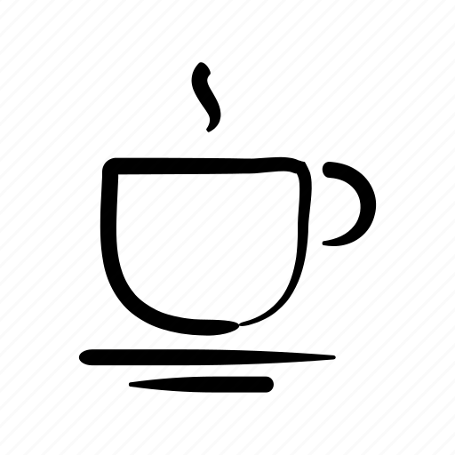 coffee, cup, espresso, hand drawn, hot, italian, tea icon