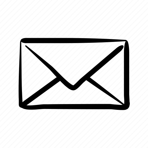 account, email, envelope, hand drawn, mail, post icon