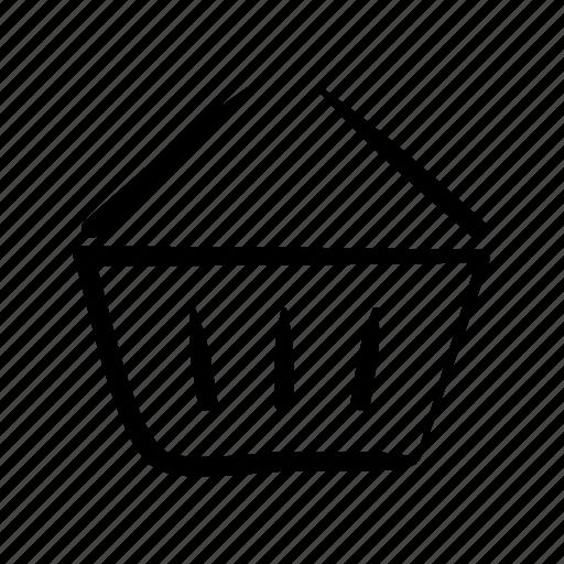 basket, cart, commerce, hand drawn, shop, shopper, shopping icon
