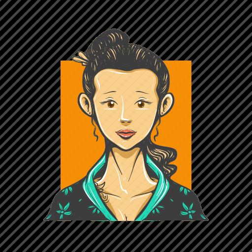avatar, avatars, geisha, japanese, woman icon