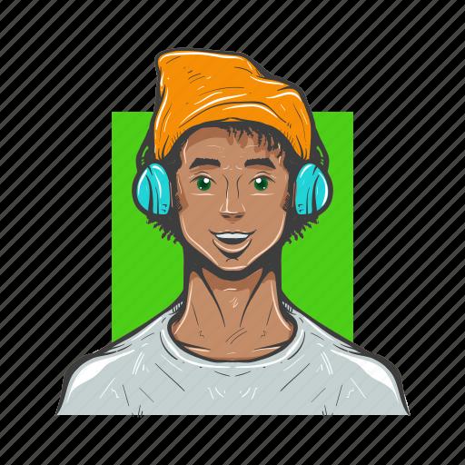 avatar, avatars, designer, dude, hippy, man avatar icon