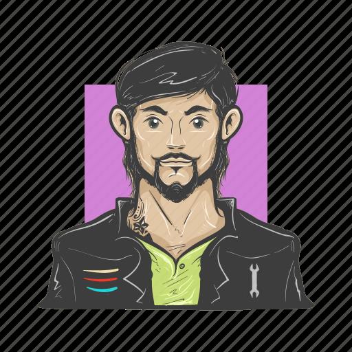 avatar, avatars, cool, man, mechanic icon
