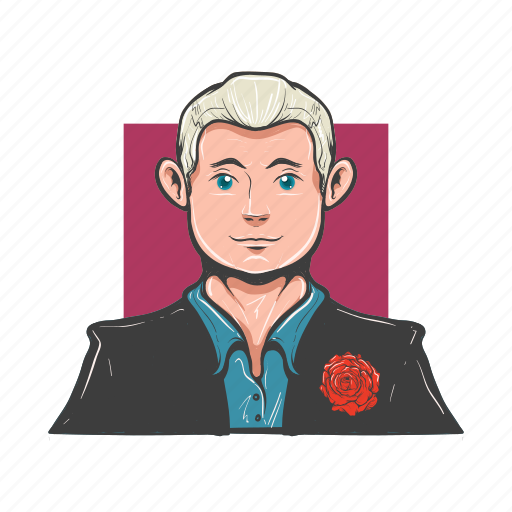 avatar, avatars, elegant, groom, illustrated, lover, man icon
