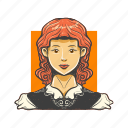 avatar, avatars, face, wild west, woman icon