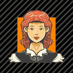 avatar, avatars, face, wild west, woman icon