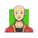 avatar, avatars, bald, man icon