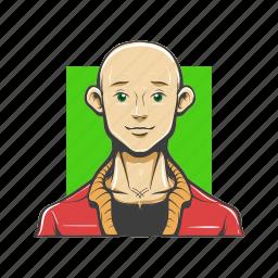 avatar, avatars, bald, man icon