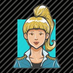 avatar, avatars, officer, pilot, police, woman icon