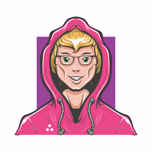 avatar, avatars, creative, fashion, hoodie, man, nerd icon