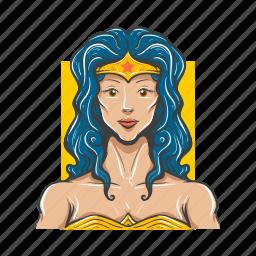 amazon, avatar, avatars, sexy, super woman icon