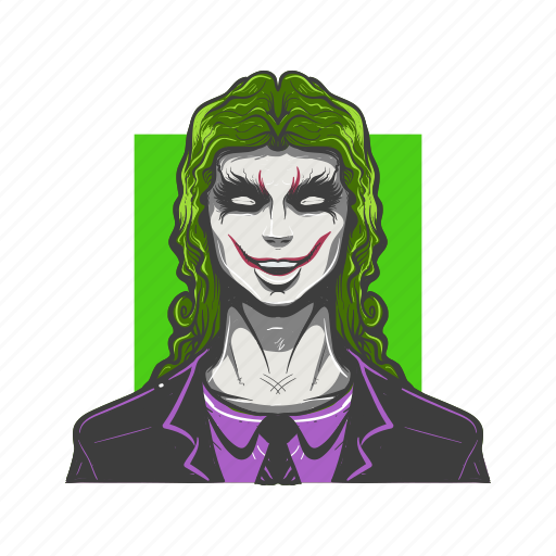 angry, avatar, avatars, face, joker, scary, villain icon