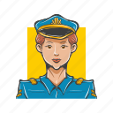 avatar, avatars, aviator, police woman, policewoman, woman icon
