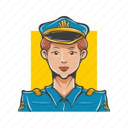 avatar, avatars, aviator, police woman, policewoman, woman icon
