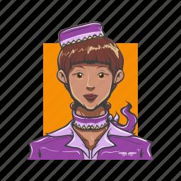 avatar, avatars, girl, hostess, woman icon