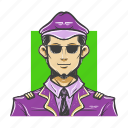 avatar, avatars, aviator, guy, man, pilot icon