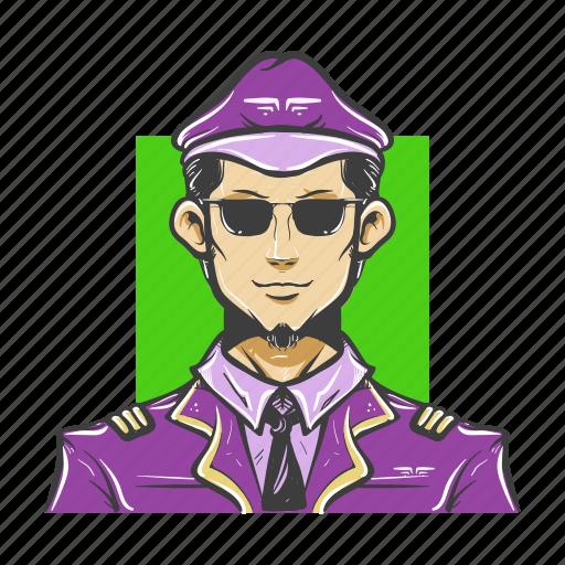 avatar, avatars, aviator, guy, man, pilot icon