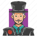 avatar, avatars, magic, magician, man, show icon