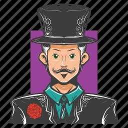 avatar, avatars, magic, magician, man, show icon