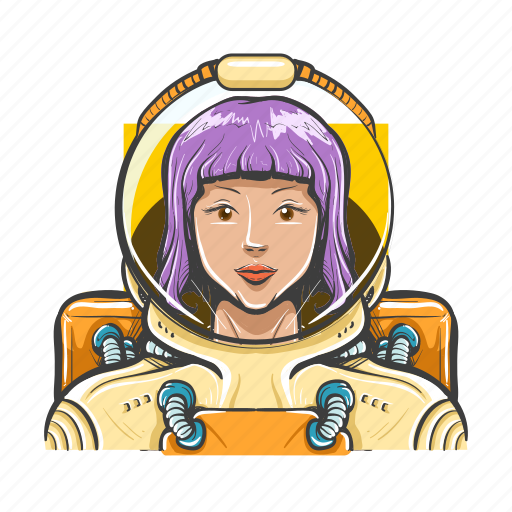 astronaute, avatar, avatars, space, space woman, woman icon