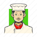 avatar, avatars, baker, chef, cook, man icon