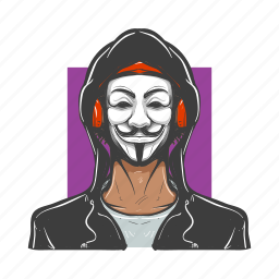 anonymos, avatars, man, mask, masked, revolutionary, vendetta icon
