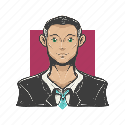avatar, avatars, business man, face, guy, man, professional icon
