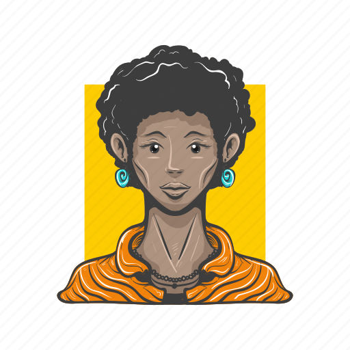 afro, avatar, avatars, girl, woman icon