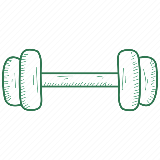 barbell, dumbbell, gym icon