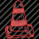 cone, traffic