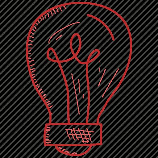 bulb, idea, light icon