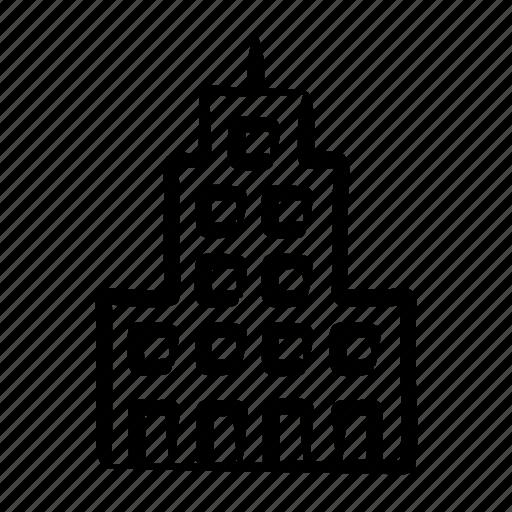 building, city, hand drawn, skycraper, tower icon