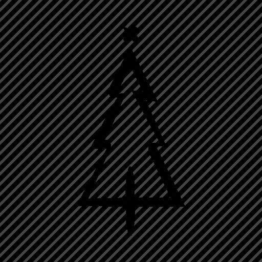 christmas, decoration, festivity, pine, tree icon