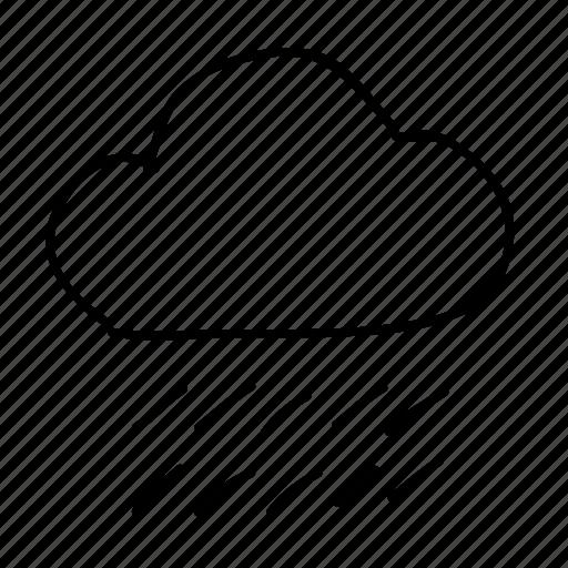 cloud, drawn, handdrawn, rain, sketch, sketchy, weather icon