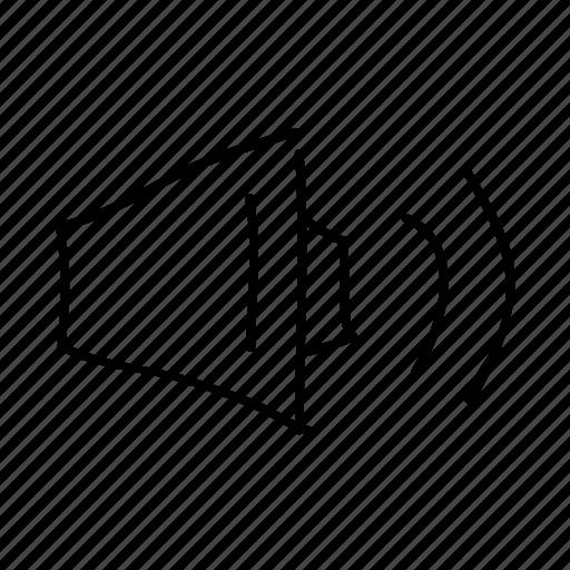 audio, drawn, handdrawn, sketch, sketchy, speaker, volume icon