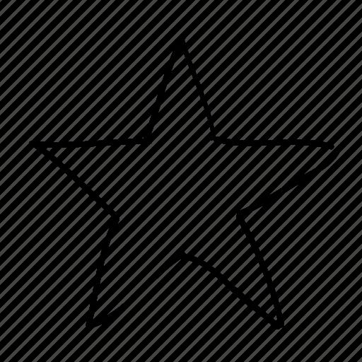 drawn, favorite, handdrawn, like, sketch, sketchy, star icon